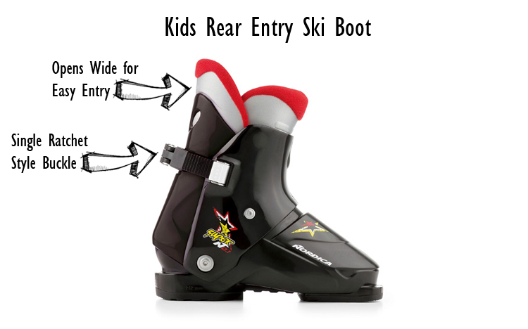 Kids Rear Entry Ski Boots
