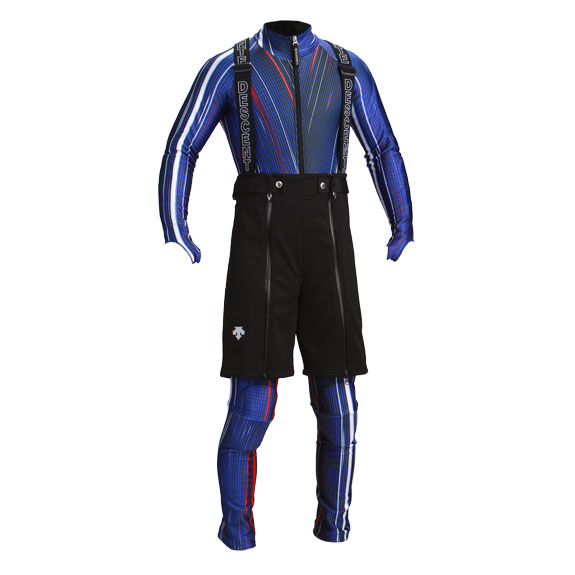 race suit with training shorts