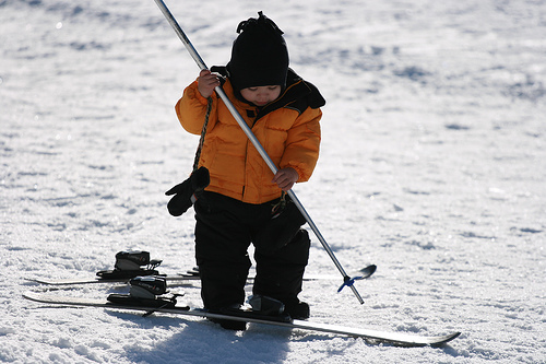 Kid with Skis
