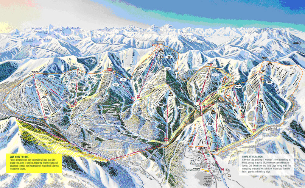 Descente Utah Ski Map